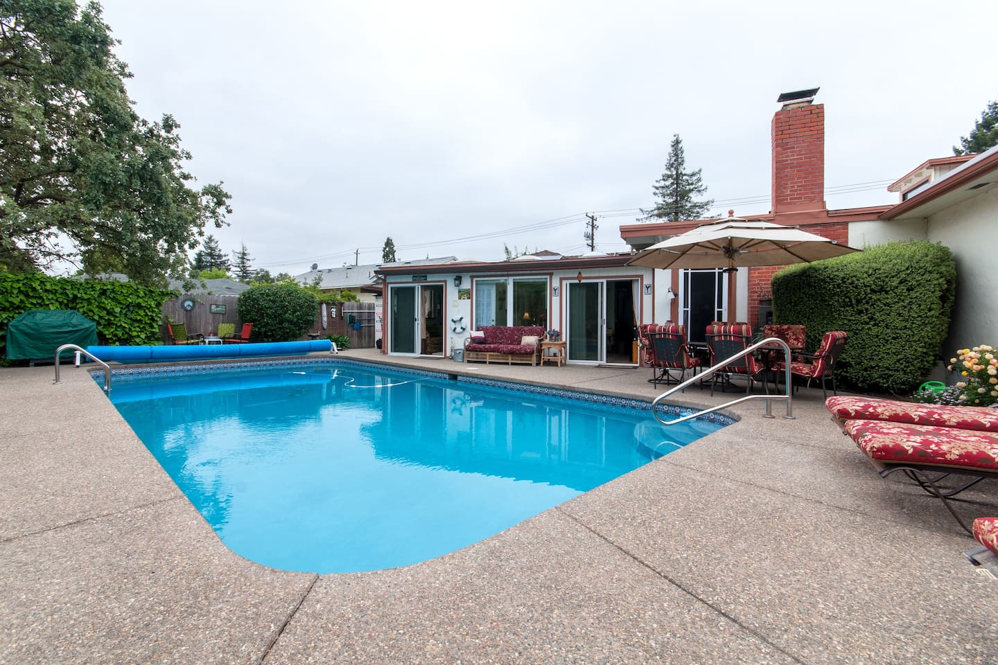 Pool is heated mid-May through mid-October.