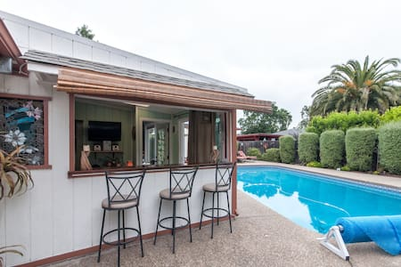 Wine country cabana: large heated pool, jacuzzi! - Santa Rosa - Bungalow