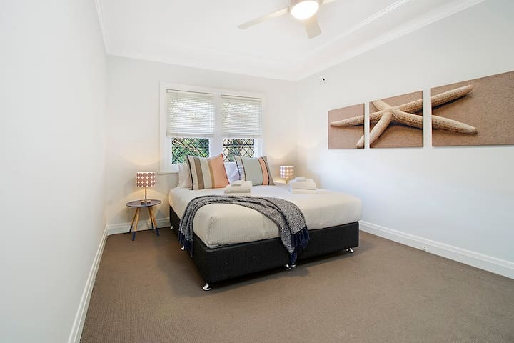 bed can be made into 2 singles