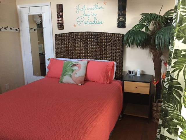 """Paradise Room"" in the Tiki Village poolside!"