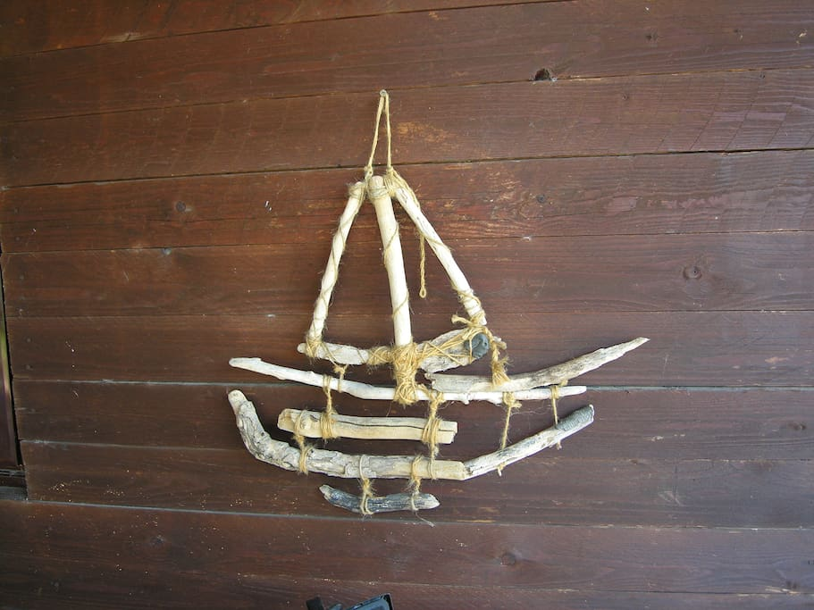 handmade chalet decoration..we love sailing!