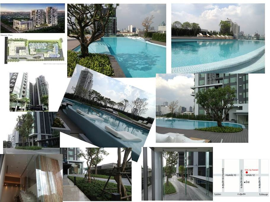 Swimming pool, roof top garden and sauna completely for relax as you home when you travel or on your business trip.