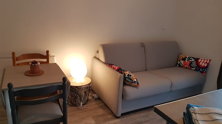 Studio 20 m² rénové propre avec parking