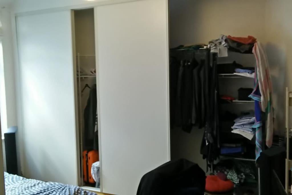 Huge integrated wardrobe