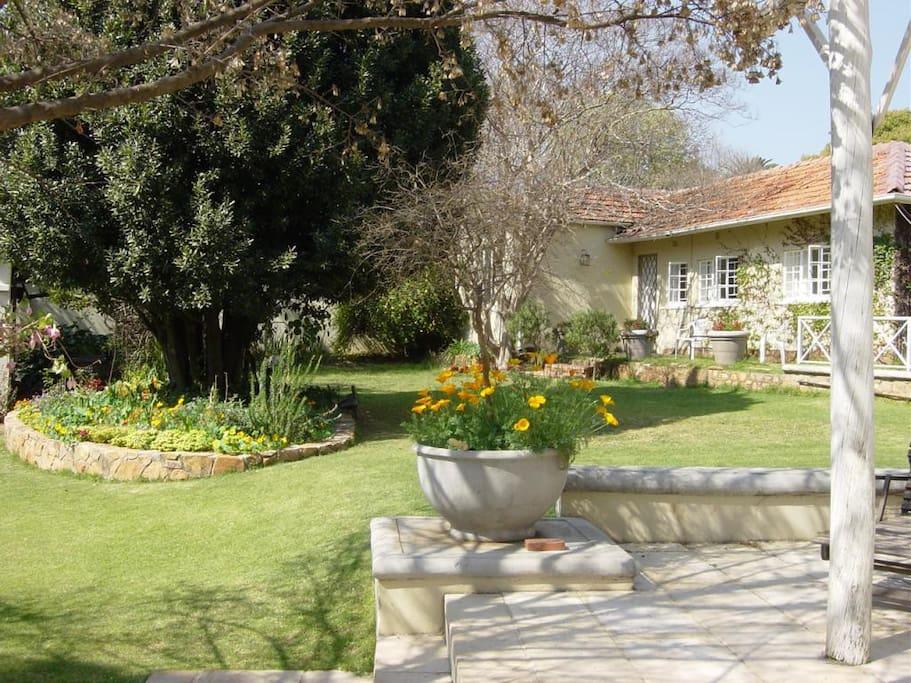 North facing studio with patio