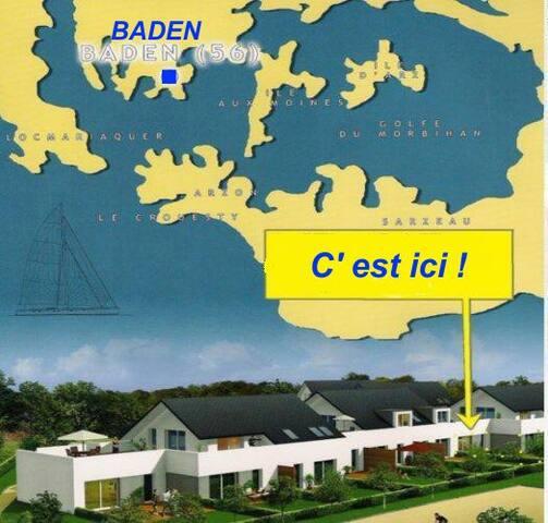 Golfe du Morbihan T2 Terrasse+ jard - Baden - Apartment