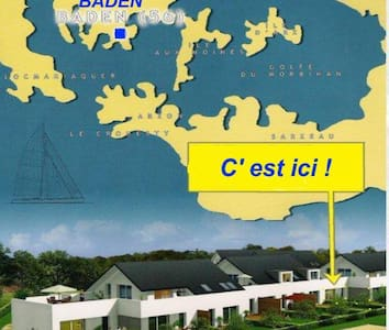 Golfe du Morbihan T2 Terrasse+ jard - Apartamento