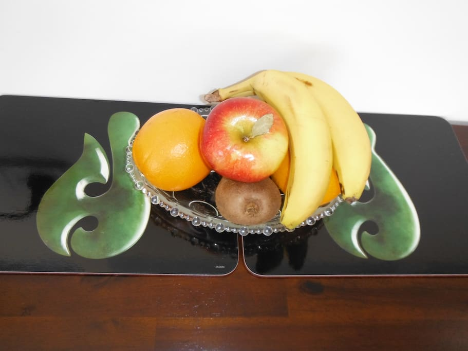 A small selection of Seasonal fruit is provided for your enjoyment.
