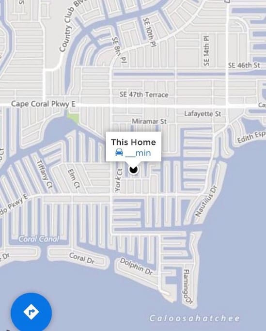 Map location.  Heart of Cape Coral
