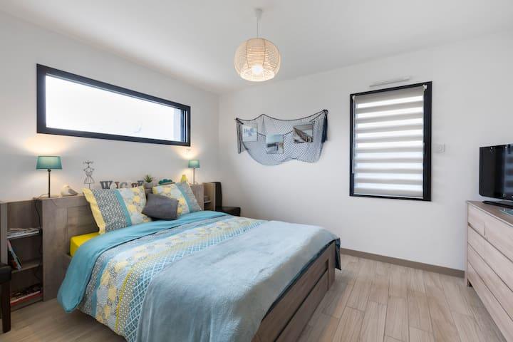 Chambre confortable à 5 min de Pléneuf Val André