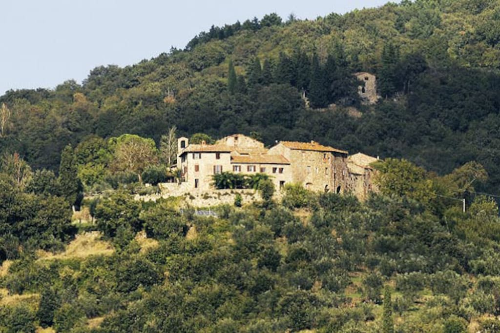 Castello diCacciano; the building on the left is your venue.