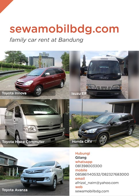 Rent Car (Tour and Shuttle Service)