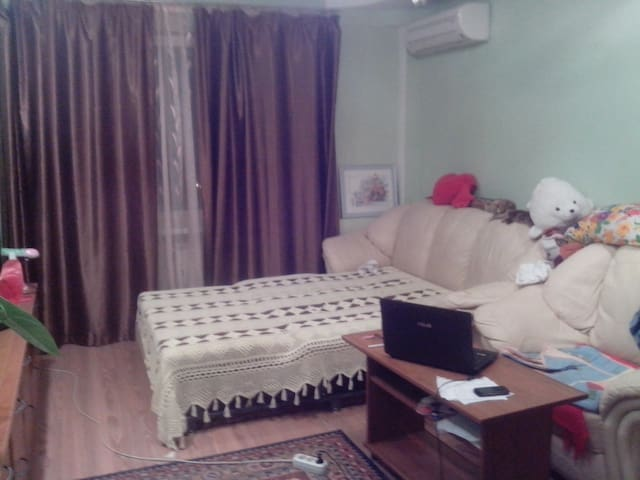Уютная комната с видом на Мамаев - Volgograd - Apartemen