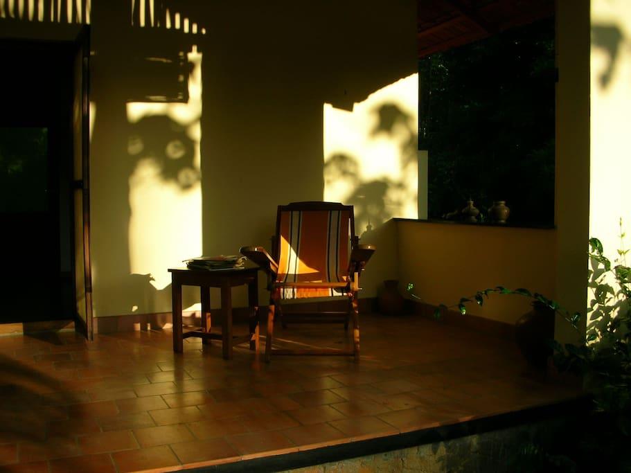 Cottage: The morning veranda (east)