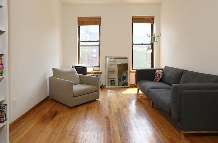 A photo from when I first moved in -- the room was bare, but you can see how large it is!