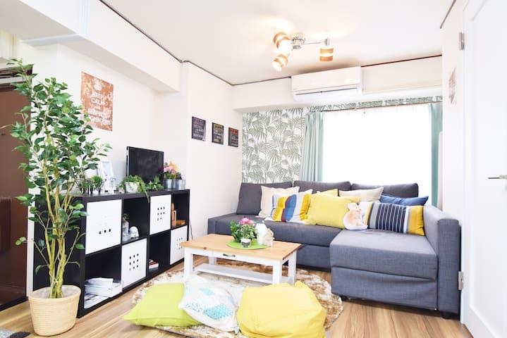 UENO renovated flat 2BR 9ppl +WIFI - Taito-ku - Appartement