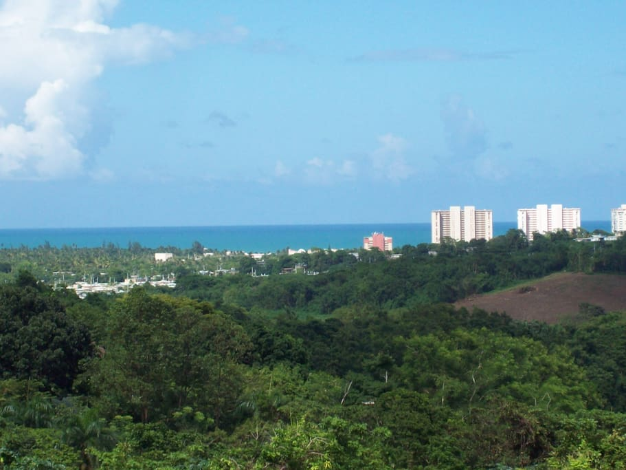 picturesque view of Luquillo Beach from the terrace