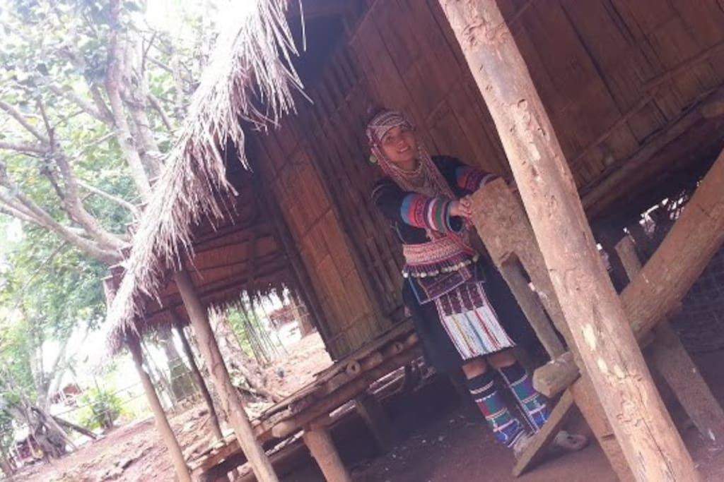 There is no electricity, no internet, and no electric wave for phone, that is hilltribe life.