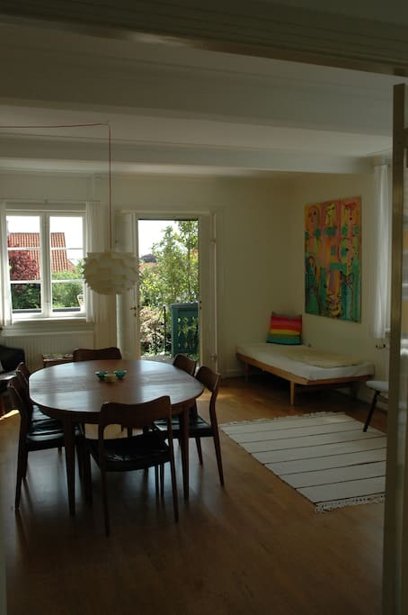 Host dinners for up to 8 people in the large dining room which has direct access to the garden.