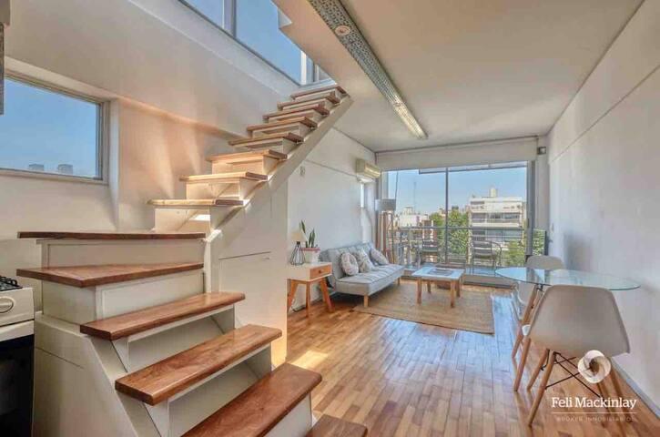 Modern, Luminous & Cozy Penthouse Loft in Palermo