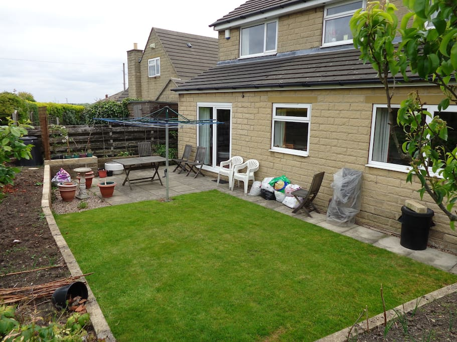 Nice private garden with garden furniture etc.  Gets the sun from afternoon until dusk.