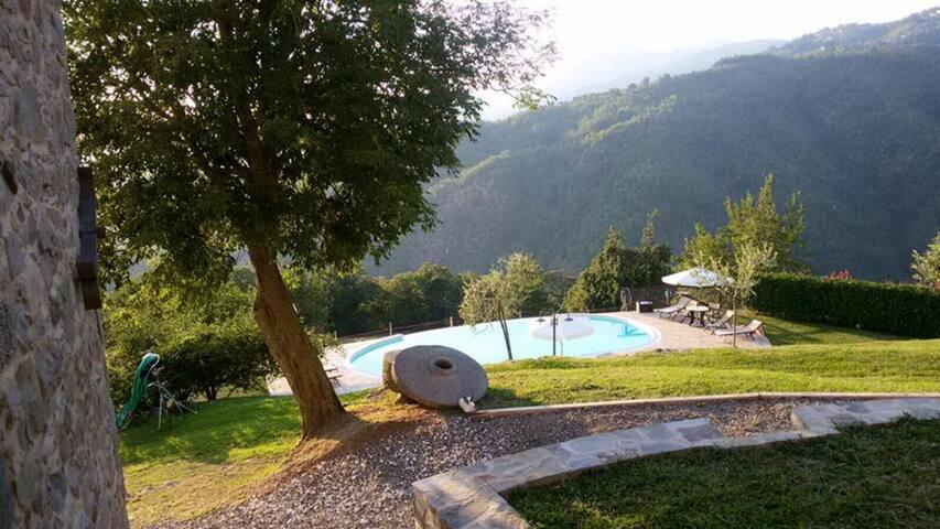 Il Fienile Apartment with pool in Sillico