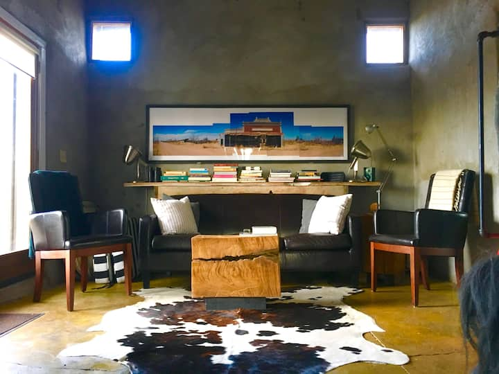 Art-Filled Marfa Adobe