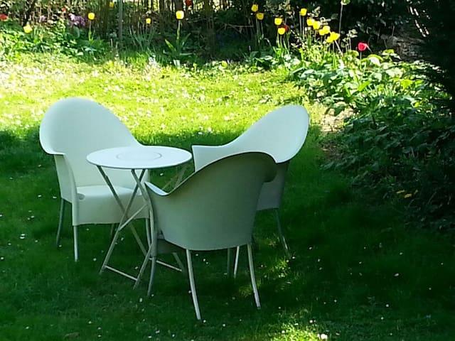 Stadtnahe im Grünen, gemütliche Wohnung mit Garten - Mainz - Apartament