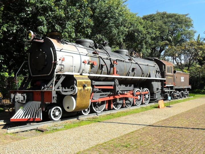 Trem no Museu Catavento