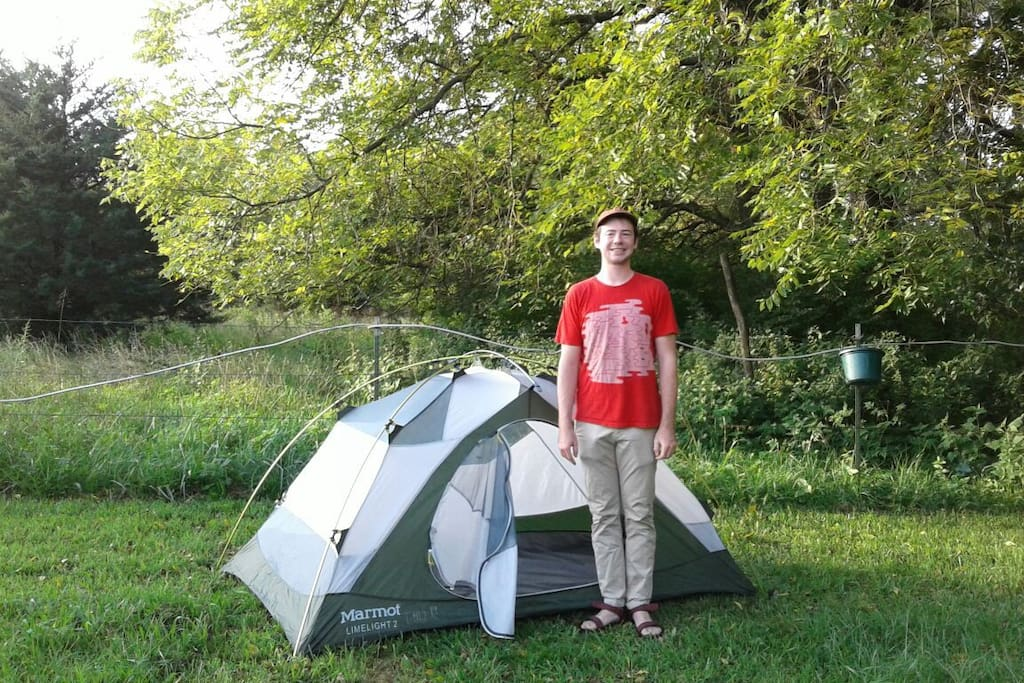 Whether you have a little tent or big, the spot is always bigger!
