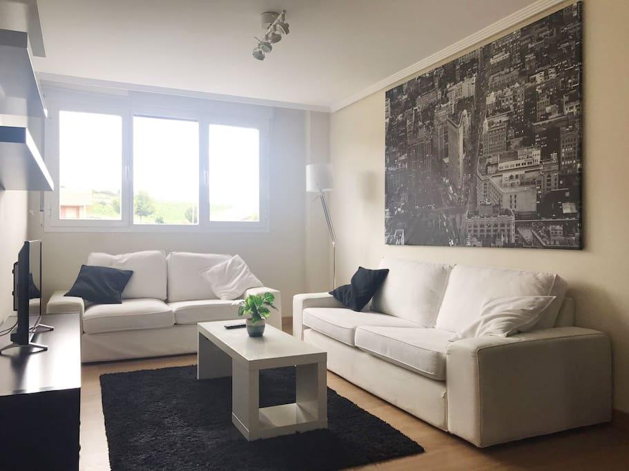 Con plazas de sofá para todos