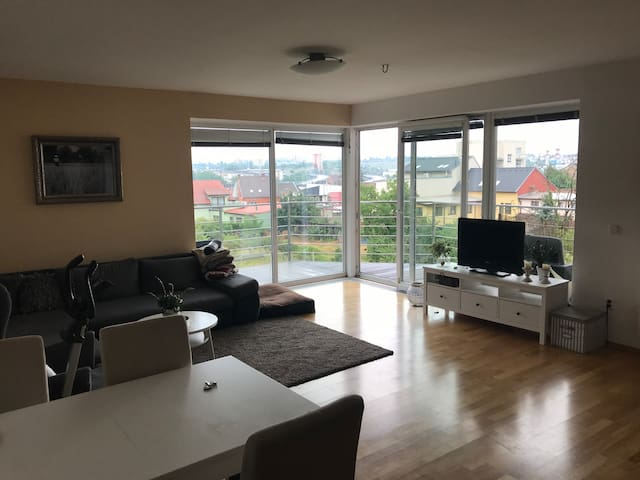 Big apartment in centre with private parking lot