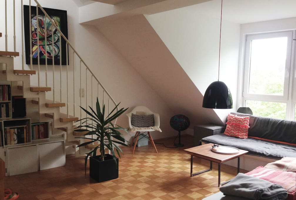 sunny penthouse 15 min to cologne fair apartments for rent in k ln nordrhein westfalen germany. Black Bedroom Furniture Sets. Home Design Ideas