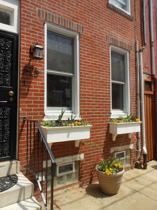 front of rowhome