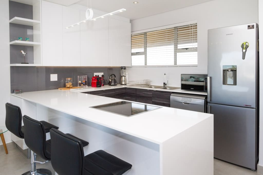 Modern kitchen with all brand new appliances.