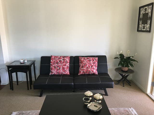 Cozy new apartment ,sofa bed in living room