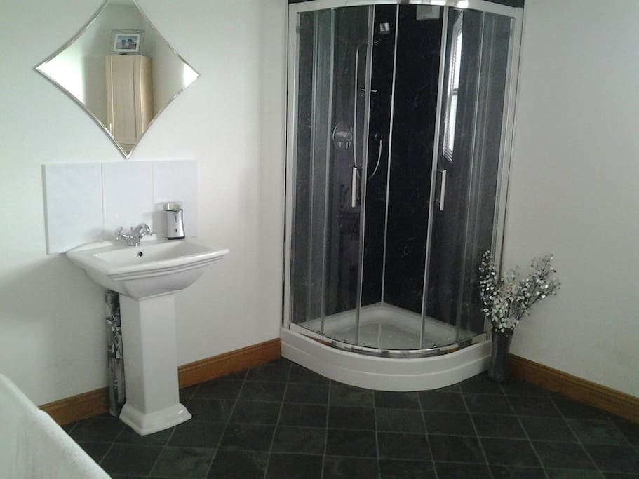 Great shower with various settings.