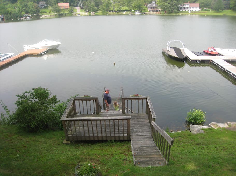 View from the deck looking out to the water