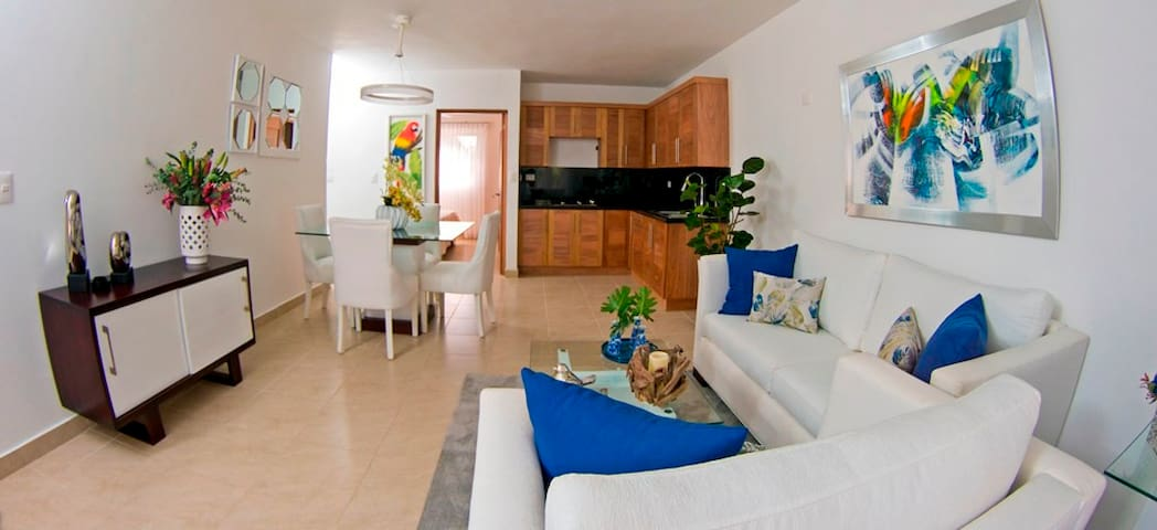 Beach front condo for rent in Cristamar Cabarete.