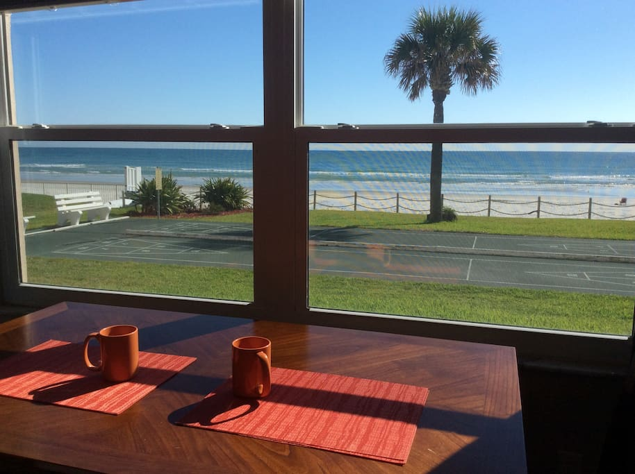 Ocean view from the dining room area