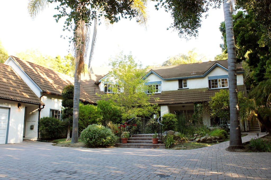 Front of Sycamore Canyon Estate:  Main House and Guest House