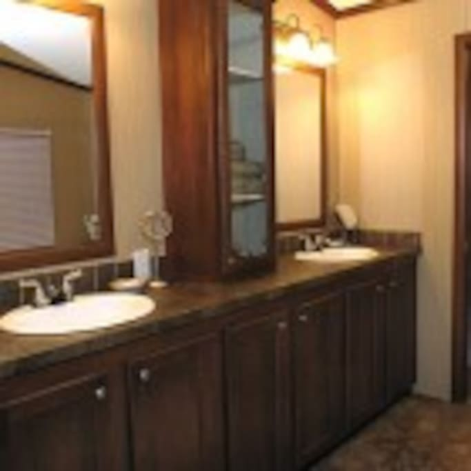 Bathroom in large cabins