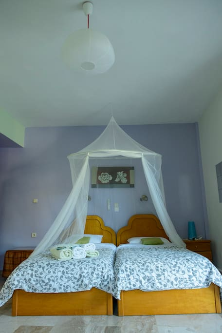 One of two room of two bedrooms apartment with private bath,kitchenette,plasma sat.T.V