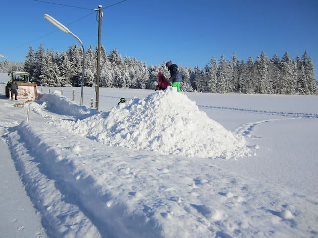 Ferienwohnung mit Bergblick in Traumlage - Wildsteig - Daire