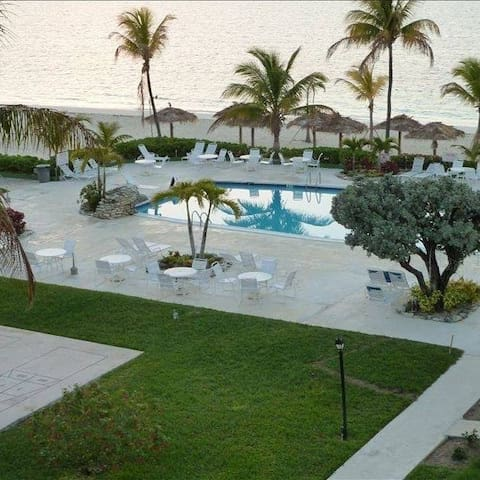 Pool and Beach on Beautiful Grounds !  With shuffle board and other games.