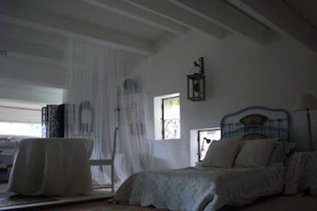 chambre spacieuse - Saint-Hilaire-d'Ozilhan