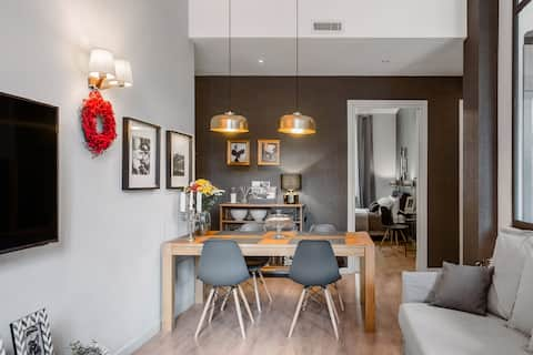 Casa Forneris-Splendido Apartamento de estilo neoyorquino cerca de Valentino
