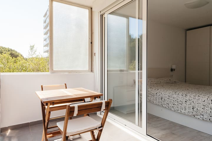 A luxury apartment on the beach