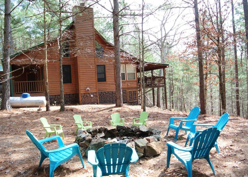 pine ridge cabin cabins for rent in mount ida arkansas