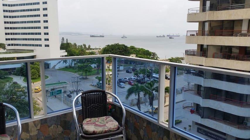 Habitacion hermosa vista al mar en zona turistica - Cartagena - Pis